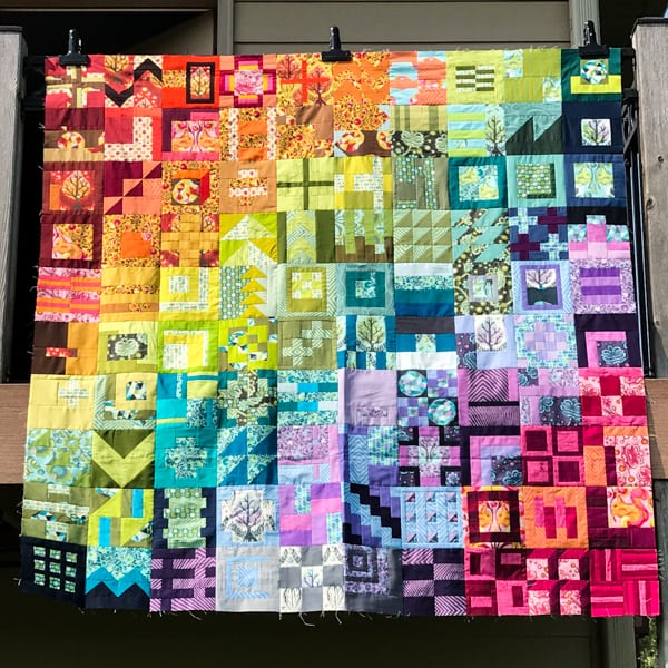 City Sampler: 100 Modern Quilt Blocks Quilt Top