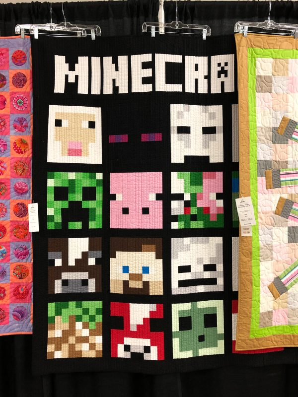 Minecraft Quilt On Display